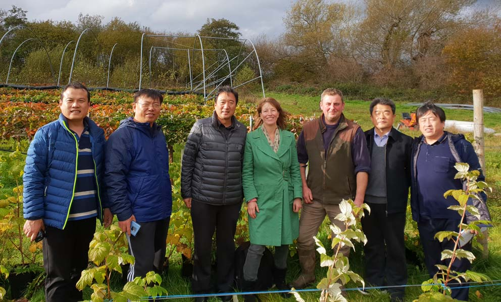 Julia at Good Day Out with Chinese delegates for farm diversification visit