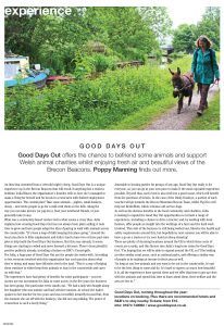 Article on Good Day Out in Buzz Magazine Cardiff March 2019