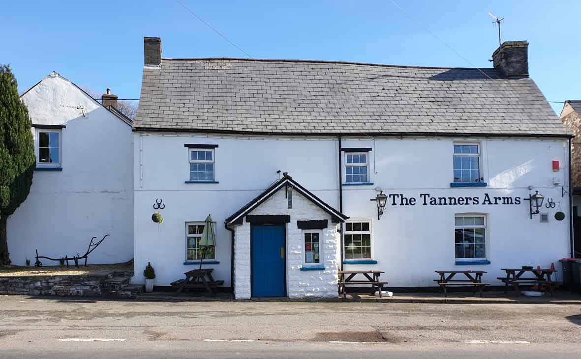 Tanners arms pub in the brecon beacons