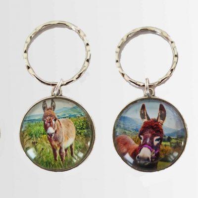 mini donkey key rings make great presents