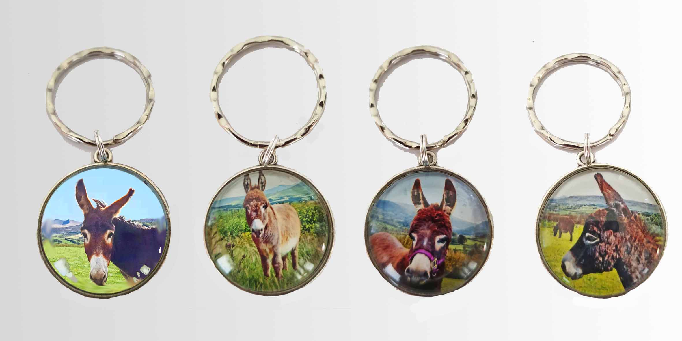 mini donkey key rings make great presents