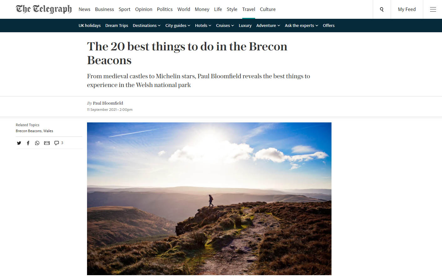 the top 20 things to do in the Brecon Beacons - The Telegraph