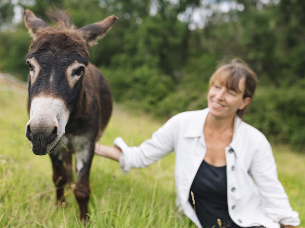 Goose the mini donkey with Julia from Good Day Out taken by Samantha Saskia Dugon