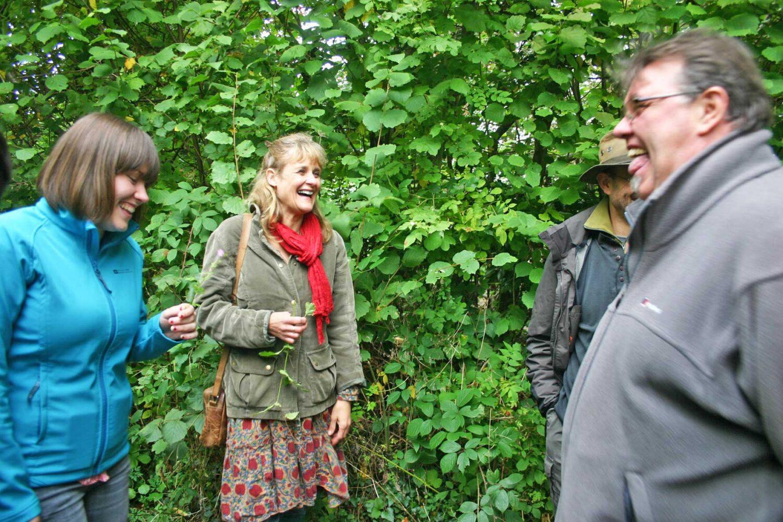enjoy walking through the hedgerows to gather wild food